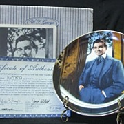"W S George Plate Titled ""Frankly My Dear"""