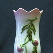 "Hull ""Fiesta"" Vase With Strawberry Decoration"