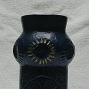 Dark Blue Butterfly Decorated McCoy Vase