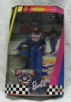50TH Anniversary Nascar Barbie MIB