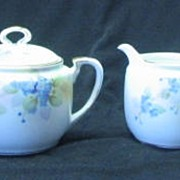 Nippon Forget-Me-Not Decorated Sugar And Creamer