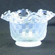 Fenton Basketweave Satin Glass Bowl