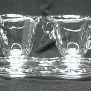 Fostoria Century Individual Creamer, Sugar And Tray Set