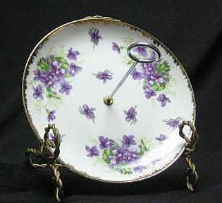 Napco China Violet Decorated Server
