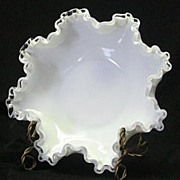 Fenton Silver Crest Double Crimped Bowl
