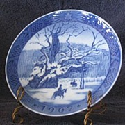 Royal Copenhagen 1967 Annual Christmas Plate