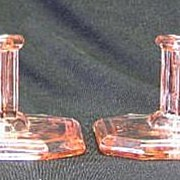 Pink Unmarked Square Candlesticks