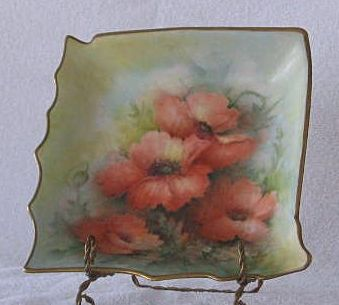 Hand Decorated Artist Signed Dish