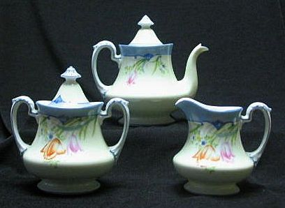 Noritake Teapot, Creamer, And Sugar Set