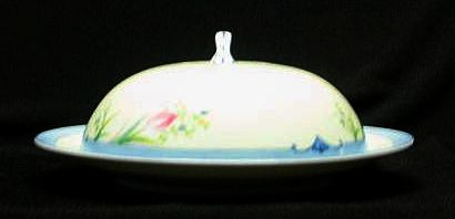 Noritake China Covered Butter Dish