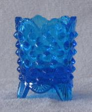Fenton Blue Hobnail Toothpick Holder