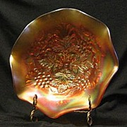 Northwood Carnival Glass Two Pattern Bowl