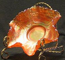 Fenton Orange Tree Carnival Glass Bowl
