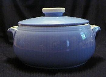 Hall China Covered Casserole In The Rose Parade Pattern