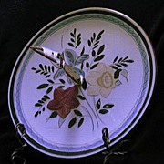"Stangl Pottery ""Country Garden"" Handled Server"