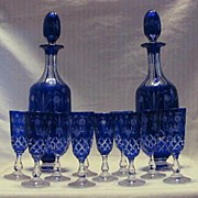 Blue Cut To Clear Cordial Set