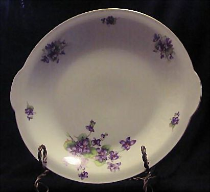 Bavarian Violet Decorated Cookie Plate