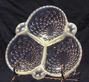Moonstone three Section Candy Dish