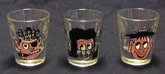 Three Novelty Shot Glasses