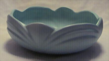 Unmarked Light Green Pottery Fruit Bowl