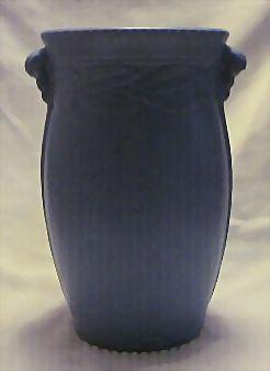 Large Light Blue Pottery Vase Impressed 534