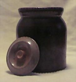 Brown Glazed Storage Jar With Lid