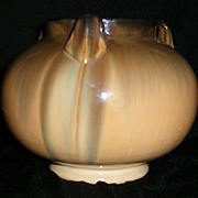 Fulper Pottery Three Handled Squat Vase