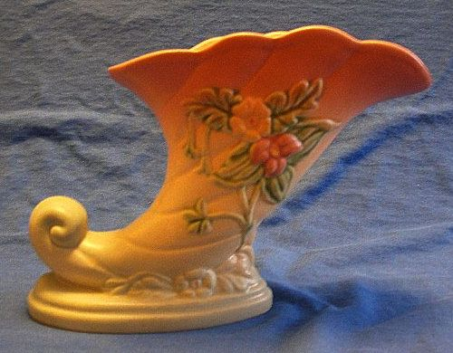 Hull Pottery Wildflower Cornucopia Vase