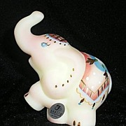 Hand Decorated Fenton Burmese Circus Elephant