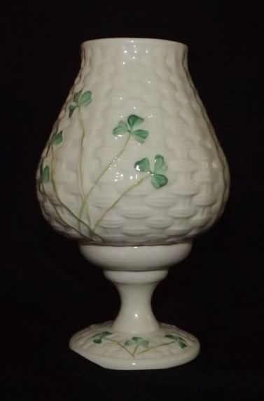 Belleek 11th Mark Votive Hurricane Lamp