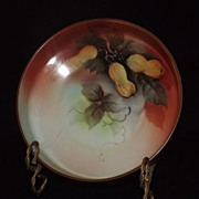 Noritake Footed Bowl With Peanut Decoration