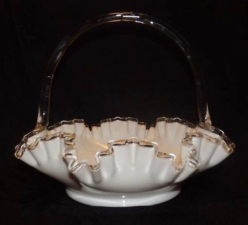 Large Fenton Silver Crest Basket