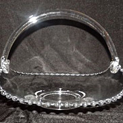 "Large Imperial Glass ""Candlewick"" Pattern Basket"