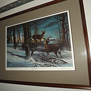 "Terry Redlin ""Night Watch"" Artist Proof 188/240"