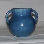 Fort Ticonderoga Blue Two Handled Vase