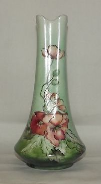Hand Painted Unsigned Poppy Decorated Vase
