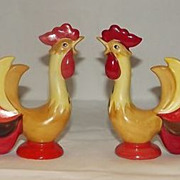 Holt Howard Crowing Rooster Salt And Pepper Shakers