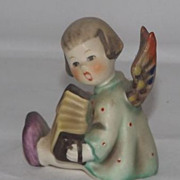 Hummel Angel Playing An Accordion Mini Candleholder