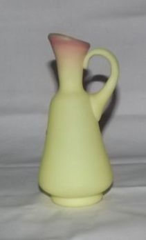 Fenton Burmese Ewer With Original Paper Label