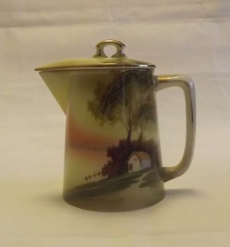 Nippon Tree By The Lake Covered Syrup Pitcher