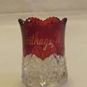 Flash Glass Toothpick Holder From Carthage, N.Y.