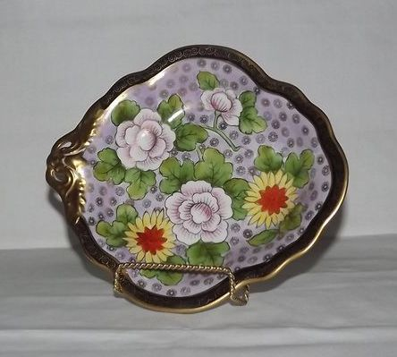 Noritake Pierced Handled Hand Painted Bowl