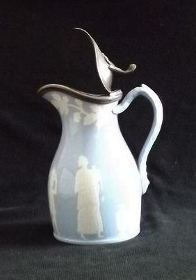 Light Blue T&R Boots Syrup Pitcher