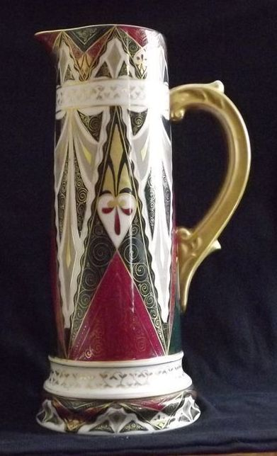 Decorated Tankard Shaped Pitcher From Austria From