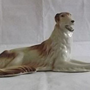 Large Royal Dux Russian Wolfhound Figurine