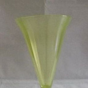 Fenton Topaz Stretch Glass Trumpet Vase