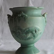 "Weller Pottery Urn Shaped ""Scenic"" Vase"