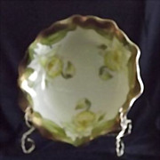 Artist Signed Daffodil Decorated Bavarian Bowl