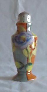 Flower Decorated Lusterware Sugar Shaker