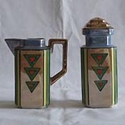 Lusterware Sugar Shaker And Creamer Set
